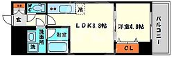 レオンコンフォート本町橋 4階1LDKの間取り