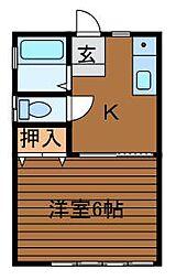 ヴィラコート相模台[2階]の間取り