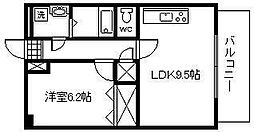 松橋マンション[5階]の間取り