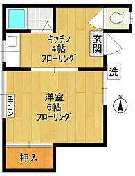第2池武荘[102号室]の間取り