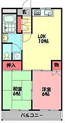 COM'S35 6階2LDKの間取り