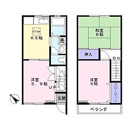 [テラスハウス] 千葉県白井市根 の賃貸【/】の間取り