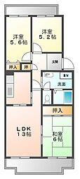 阪神浜甲子園マンション[3階]の間取り