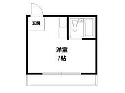プチシャンブル紫野[3階]の間取り