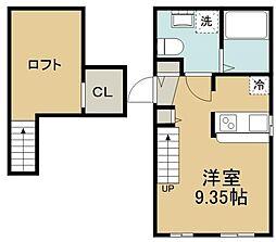 東武伊勢崎線 北越谷駅 徒歩5分の賃貸アパート 1階ワンルームの間取り