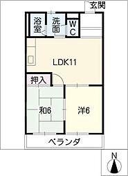 コ−ポラスZ[1階]の間取り