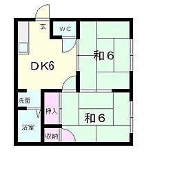 レ・ユニオン北出[2階]の間取り