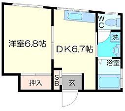 高島マンション[3階]の間取り