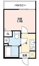 東京都練馬区平和台2丁目の賃貸アパートの間取り