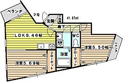 KTIレジデンス淡路[301号室]の間取り
