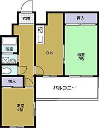 シャトー元町[6階]の間取り