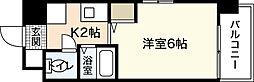 三ビル[6階]の間取り
