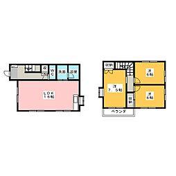 [一戸建] 静岡県静岡市駿河区中田本町 の賃貸【/】の間取り