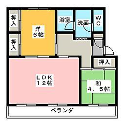 第一パークサイドマンション[4階]の間取り