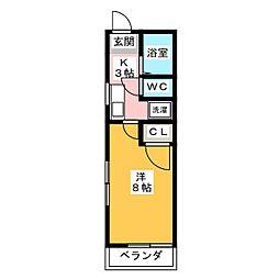 ヴェルデ赤坂[1階]の間取り