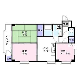 サンライフマンション早津[3階]の間取り