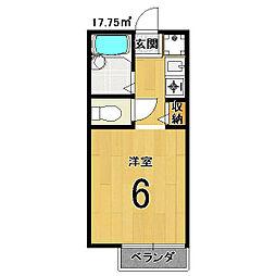 セジュールMAKOTO[103号室]の間取り
