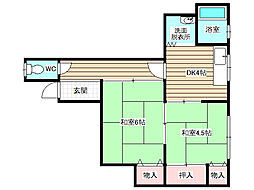 マンション小川[2階]の間取り
