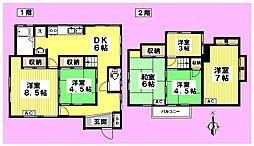 [一戸建] 東京都中野区野方1丁目 の賃貸【東京都 / 中野区】の間取り