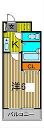 川口プラザD[1階]の間取り