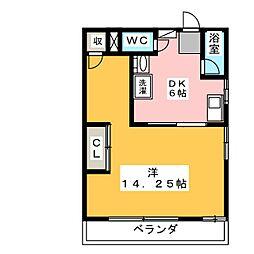 コーポ福島[2階]の間取り