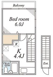 KHアパート[2F号室]の間取り