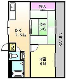 コトブキハイム[2階]の間取り