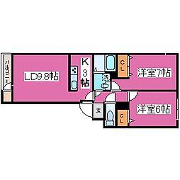 北海道札幌市北区北三十一条西12丁目の賃貸マンションの間取り