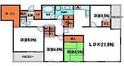 サンマークス大日ジアスタワーレジデンス 12階4LDKの間取り