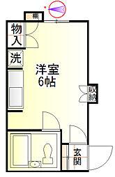 佐藤アパート[208号室]の間取り