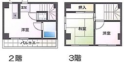 東京都西東京市ひばりが丘2丁目の賃貸マンションの間取り