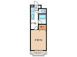 ホワイトパレス[1階]の間取り