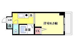 ロジュマン六甲[3階]の間取り