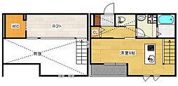 87gk-Brand jr草津浜町 1階ワンルームの間取り