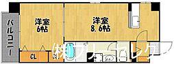 福岡県福岡市東区箱崎6丁目の賃貸マンションの間取り