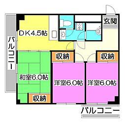 清瀬シティハイム[3階]の間取り
