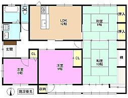 [一戸建] 長野県長野市東犀南 の賃貸【/】の間取り