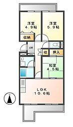 パークハウスYAGUMA[2階]の間取り