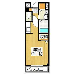 ビュ−ティ−藤ノ木[1階]の間取り