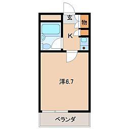 サクラビル[4階]の間取り