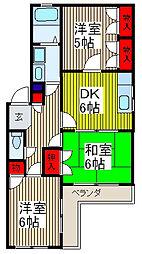 ジュネス桜田[1階]の間取り