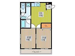 関田コーポ[3階]の間取り