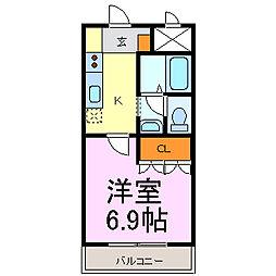 愛知県半田市東郷町2丁目の賃貸アパートの間取り