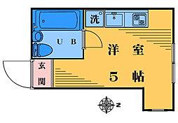 グローリア高田馬場[201号室]の間取り