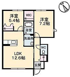 Sha Maison水呑 II[1階]の間取り