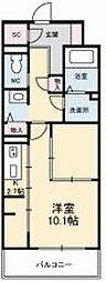 JR高徳線 栗林公園北口駅 徒歩6分の賃貸マンション 3階1Kの間取り