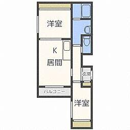 北海道札幌市東区北十二条東12丁目の賃貸マンションの間取り