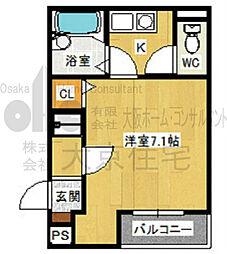 大阪府八尾市北本町3丁目の賃貸マンションの間取り