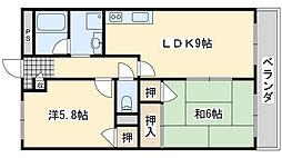 ハイツKEYAKI[201号室]の間取り