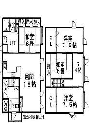 [一戸建] 北海道札幌市北区篠路九条2丁目 の賃貸【/】の間取り